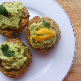 Cupcakes Gone Curry! Indian-Inspired Spinach, Chickpea-Almond Savoury Cupcakes