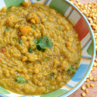 Red Lentil, Split Pea and Butternut Squash Dal