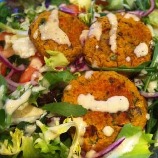 Chickpea and Sweet Potato Falafel Salad