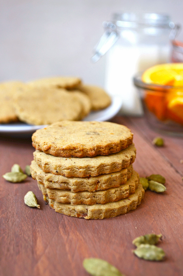 Gluten-free Vegan Orange Cardamom Cookies | One Arab Vegan