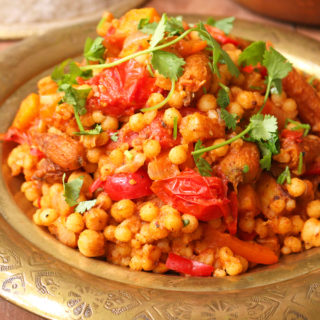 Recipes one arab vegan moroccan style moghrabieh couscous forumfinder Gallery