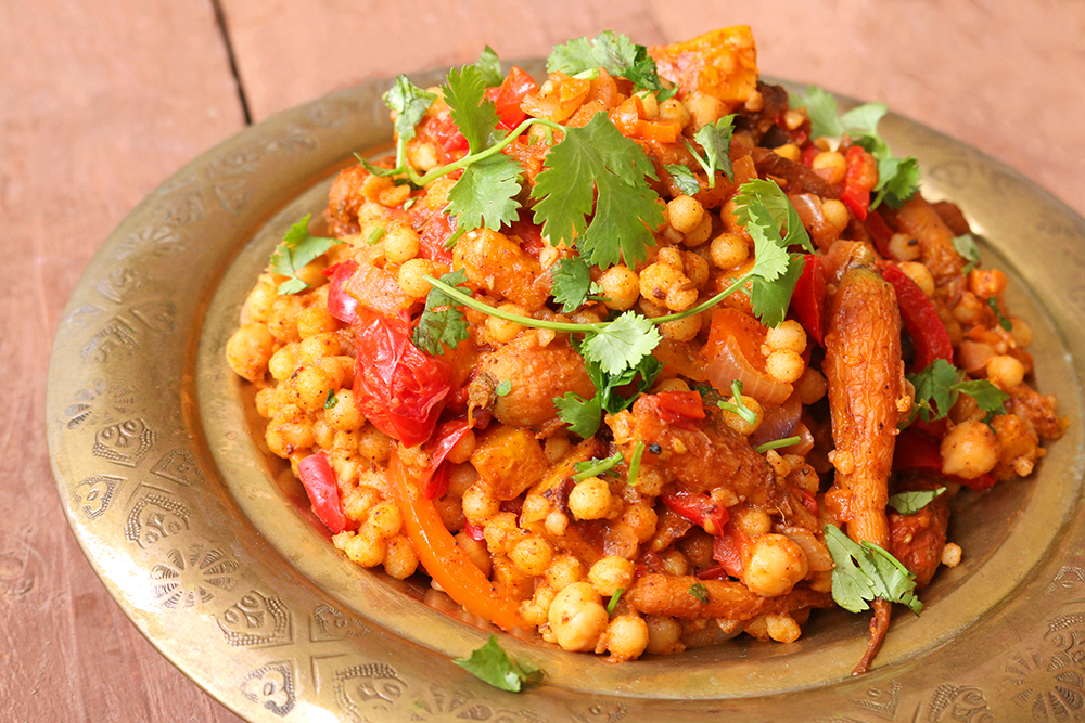 Moroccan style moghrabieh couscous one arab vegan much like my harira recipe i make no claims that this couscous dish is at all authentically moroccan what i can tell you is that it is a fragrantly forumfinder Gallery